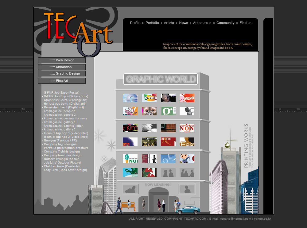 The First Tecarto Website Page_4