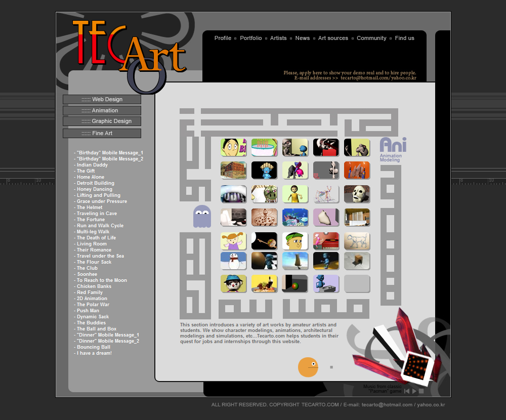 The First Tecarto Website Page_5